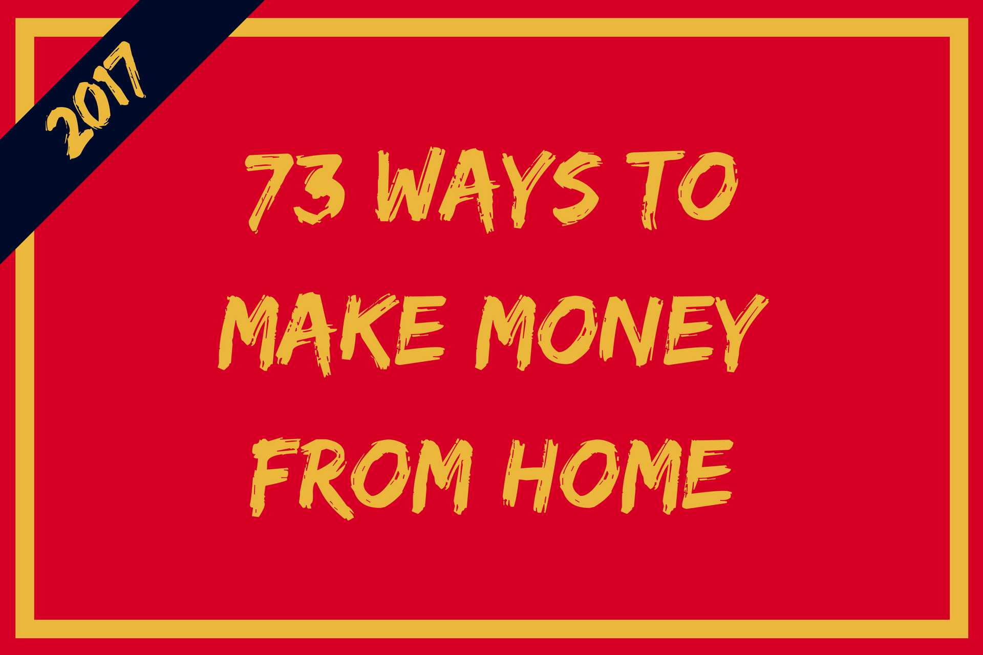 Make money from home make money anywhere for Money to build a house
